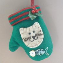 Kitten on Mitten Cat Christmas Ornament - $6.00