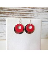 Retro Mod Style Chocolate Brown Or Cherry Red S... - $3.99