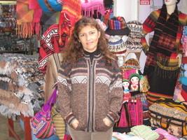 Ethno designed cardigan,jacket made of Alpaca wool - $110.00