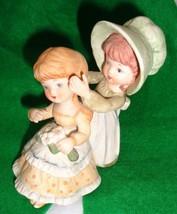 Lefton Handpainted Girls Bonnet Flowers 2726 - $12.50