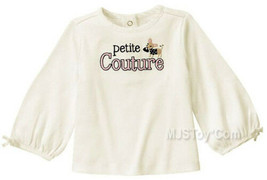 NWT GYMBOREE Girl Embroidered Petite Couture with Chihuahua T-Shirt 2T/3... - $12.99