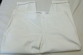 Women's Liz Claiborne Classic Chino Pants Size 18 White NEW W Tags - $21.77