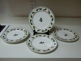 Retroneu Stoneware Golden Holly Set of 5 Dinner Plates 10 1/2 Inch - $49.49