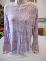 Women's  Liz Claiborne Xanadu Orchid Long Sleeve Shirt Sweater Size P-La... - $24.74