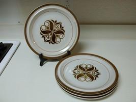 Sand Script Stoneware ~ Set of 4 Dinner Plates ~ 10 1/2 Inch  - $34.64