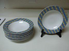 Studio Nova Show Case ~ Set of 7 Rimmed Soup Bowls  - $49.49