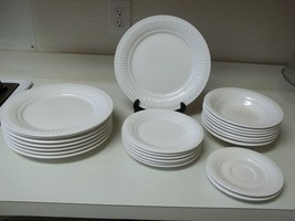 New Traditions White Stoneware Set ~ 23 Pieces ~ Plates & Bowls  - $148.49