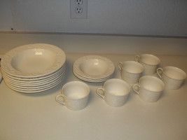 Mikasa English Country Side White ~ 17 Piece Set ~ Bowls & Cups  - $79.19