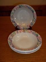 Vitromaster Stoneware Impression Cereal Bowls ~ Set of 4 - $24.74