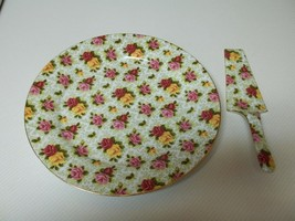 Formalities By Baum Bros Rose Cake Plate and Server - $36.62
