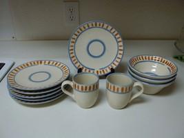 Wisteria Stoneware ~ 11 Piece Set ~ Plates Bowls Mugs - $69.29