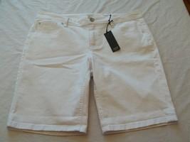 Women's a.n.a. White Jean Shorts Size 24W  New W Tags - $19.79