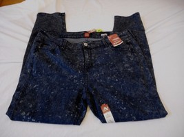 Women's Juniors Plus Arizona Super Skinny Leg Jegging Dark Moon Sz 14 NEW - $31.67