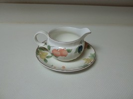 Mikasa Fruit Panorama Gravy Boat With Under Plate ~ Excellent Condition - $38.60