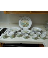 Studio Nova Rolling Hills ~ 28 Piece Set ~ Plates Cups Creamer Sugar - $108.89