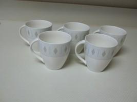 Mikasa Ultima Super Strong China ~ Diamond Head ~ Set of 5 Cups ~ 3 1/2 Inch - $44.54