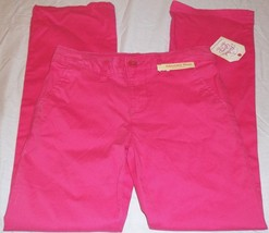 Girls Faded Glory Pants Bootcut Chino Racy Pink Size 5 New With Tags - $9.89