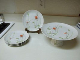Prelude ~ The Tuscany Collection ~ Pedestal Cake Plate with 4 Plates  - $44.54
