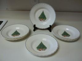 House Of Salem Noel Swirl Christmas Tree Set of 8 Bowls  8 3/4 Inch - $49.49