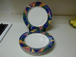 China Pearl Stoneware ~ Set of 4 Dinner Plates ~ Tiara  - $39.59