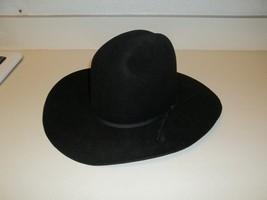 Bradford Western Resistol Cattleman Black Hat Log Oval 6 3/4 - $59.39