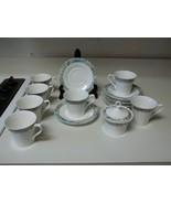 Mikasa Super Strong Fine China Renoir 7 Cups & 8 Saucers  Sugar Bowl W Lid - $59.39