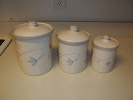 Studio Nova Double Up Canister Set ~ 3 Canisters with Lids ~ Excellent  - $79.19