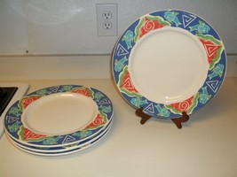 World China ~ Libbey ~ Set of 4 Fish Nautical 12 inch Plates ~ Nice!  - $59.39