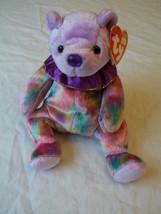 "Ty Beanie Baby ""February "" The Birthday Bear Amethyst - $8.90"