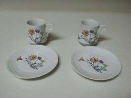 Louis Lourioux Porcelain Limoges ~ Wildflower ~ 4 Piece Demitasse Cups &... - $32.66