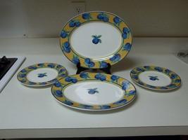 Furio Home Portugal ~ Blue Plums ~ 2 Platters & 2 Salad Plates - $49.49