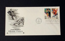 NRMT FDC 1984 WINTER OLYMPIC GAMES 2 20 CENT STAMPS ICE DANCING ALPINE S... - $3.99