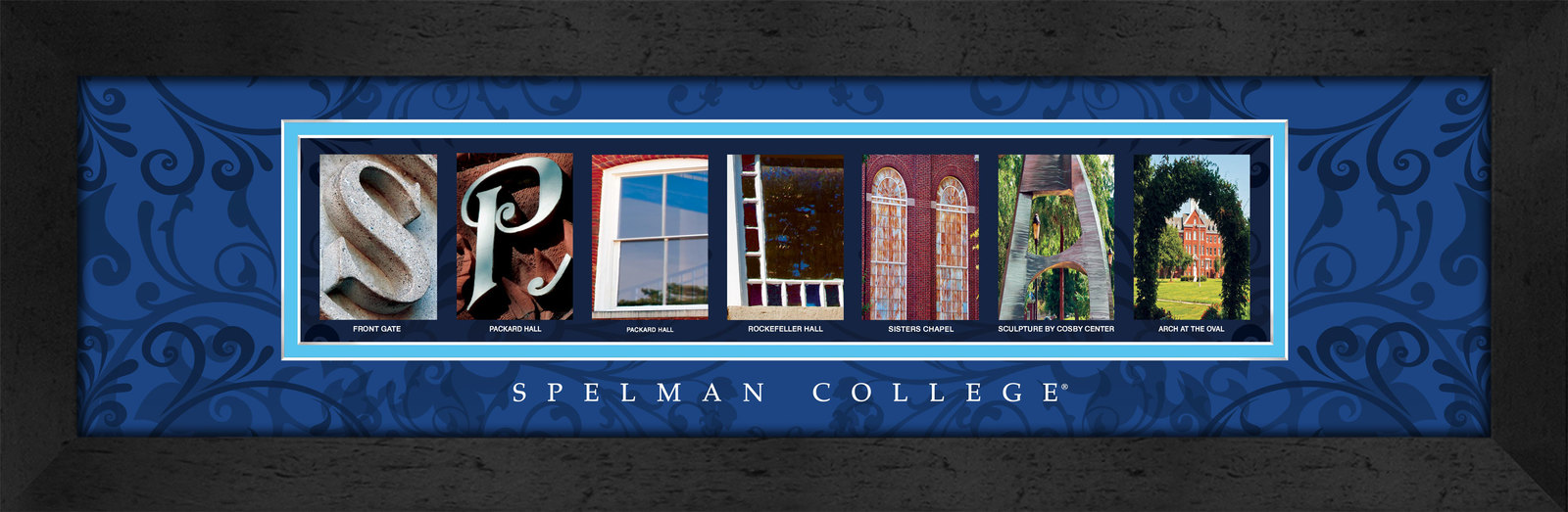 Primary image for Spelman College Officially Licensed Framed Campus Letter Art