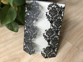 Laser Cut Wedding Invitations,Invitation Cards,Flower Invites,Invitatons... - $64.00
