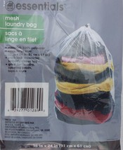 """Laundry Bag Mesh W Draw String White Polyester 24""""x36"""" Laundry Sporting ... - $3.95"""