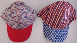 Patriotic Caps Hats One Size Fits Most - $2.99