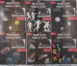 Window Stickers Decals Accents: Sports, Balls, Fishes, Letters, Cracked ... - $2.99
