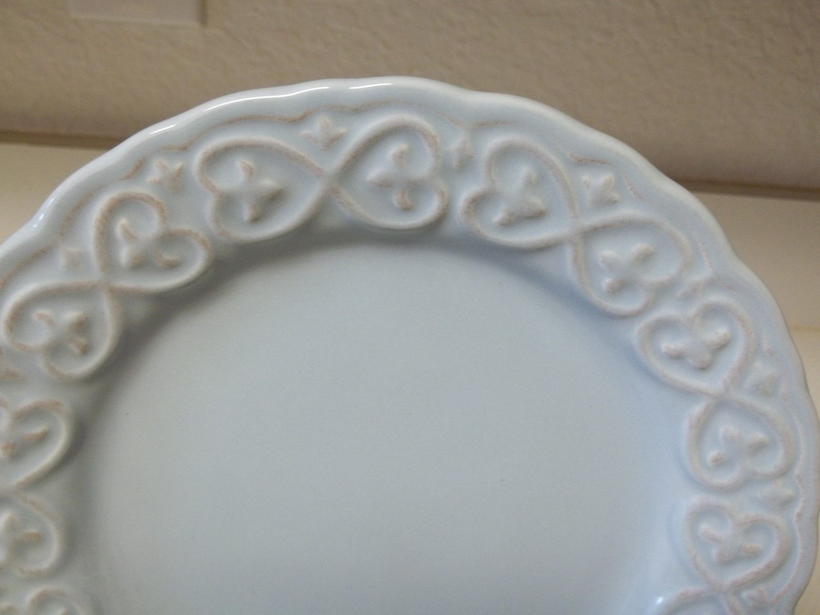 ... Certified International Karidesign ~ Set of 8 Salad Plates ~ Blue Embossed ... : karidesign dinnerware - pezcame.com