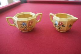 Bekor Vintage Creamer & Sugar Bowl LDBC NICE Hand Painted Germany #2811 ... - $25.00