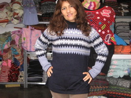 Sweater knitted of pure Alpaca wool, crew neck - $114.00