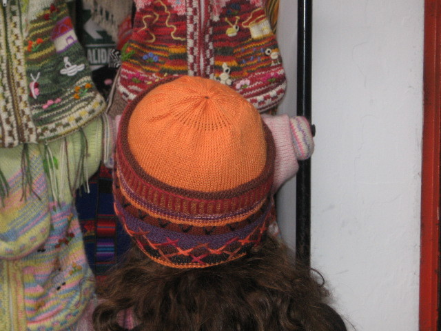 Beanie hat made of alpaca wool & hand-embroidery, cap