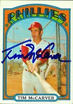 Tim McCarver autographed Baseball Card (Philadelphia Phillies) 1972 Topp... - $17.00