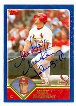 Mike Matheny autographed Baseball Card (St. Louis Cardinals) 2003 Topps #89 - $18.00