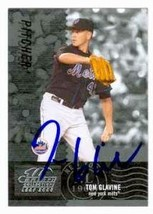 Tom Glavine autographed baseball card (New York Mets) 2005 Donruss Leaf #47 - $18.00