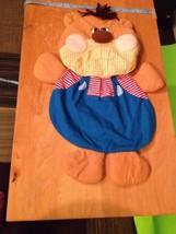 Russ Berrie Vintage Baby Room Decor Boo Boo Teddy Bear Red Stripped Yarn... - $29.70