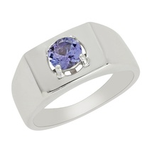 925 Sterling silver rings jewelry with natural tanzainte gemstone silver... - £14.34 GBP