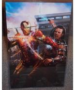 Iron Man vs Whiplash Glossy Print 11 x 17 In Hard Plastic Sleeve - $24.99
