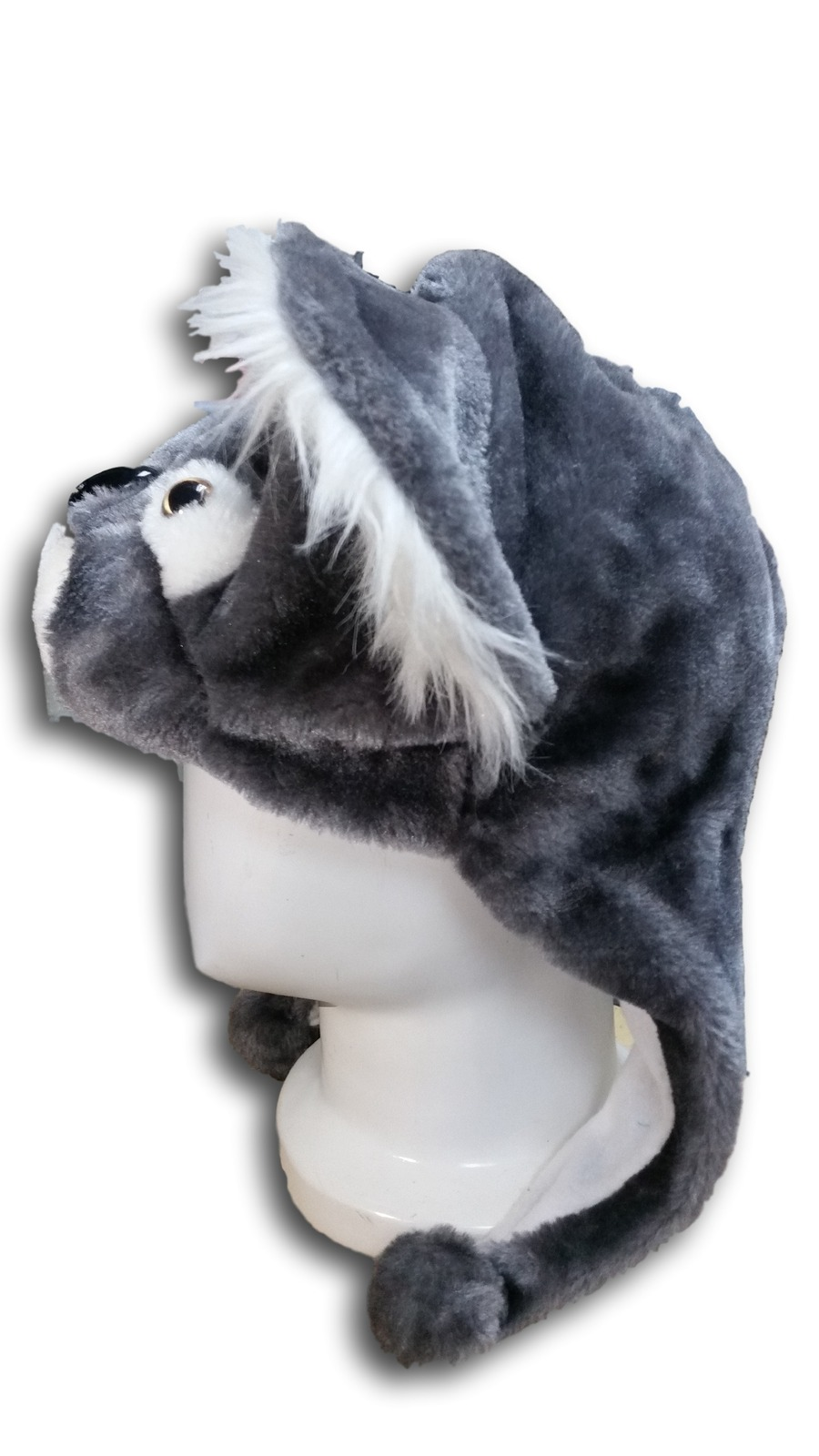 Cute Kawaii Anime Animal Hat Rave Beanie Cap Furry Plush Cosplay Silver Koala