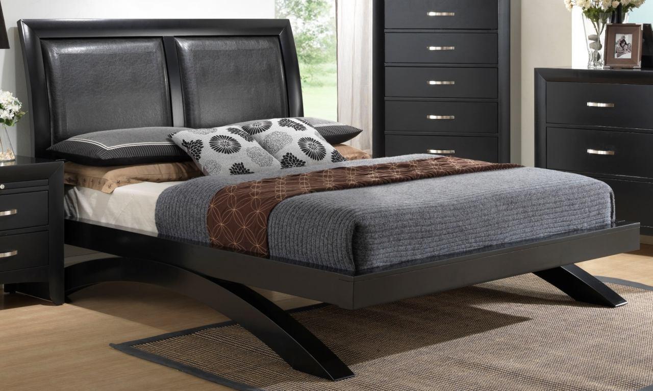 Crown mark rb4380 galinda queen bedroom set 2 night stands - Transitional style bedroom furniture ...