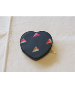 Fossil SL6899745 Vday Heart Coin Hearts black leather coin id purse NWT*^ - $32.17